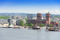 Oslo Radhuset from the sea Oslo Norway Royalty Free Stock Photo