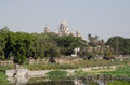 Osmania hospital hyderabad view across the river musi in central looking towards the general andhra pradesh india Stock Images
