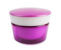 сosmetics container pink cosmetics on a white background Stock Images