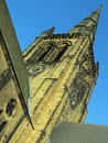 Ossett church spire looking up at the in nr wakefield west yorkshire Stock Photography