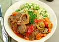 Osso Bucco And Rice Stock Images