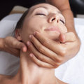 Osteopathy with cervical manipulation on a female patient Royalty Free Stock Images