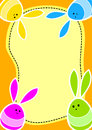 Ostern Bunny Eggs Greeting Card Lizenzfreies Stockfoto