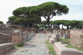 Ostia antica excavation in the port of ancient rome italy Stock Photography