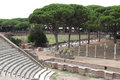 Ostia antica excavation in the port of ancient rome italy Stock Photo