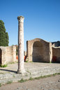 Ostia antica in rome view of archeological site near at the mouth of the river tiber was s seaport Stock Photos
