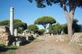 Ostia antica in rome view of archeological site near at the mouth of the river tiber was s seaport Royalty Free Stock Photo