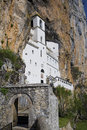 Ostrog ortodox monastery built into the rock montenegro Royalty Free Stock Photo