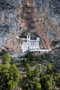 Ostrog ortodox monastery located near niksic montenegro Royalty Free Stock Photo