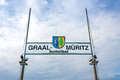 Ostseebad graal mueritz baltic sea sign on the pier of the spa town Royalty Free Stock Images