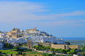 Ostuni beautiful white town apulia italy Royalty Free Stock Photo