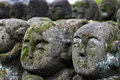 Otagi nenbutsu ji stone statues in the buddhist temple in the arashiyama area of kyoto japan there are more than carved rakan Royalty Free Stock Image