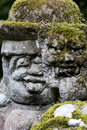 Otagi nenbutsu ji stone statues in the buddhist temple in the arashiyama area of kyoto japan there are more than carved rakan Royalty Free Stock Images