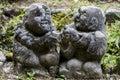 Otagi nenbutsu ji stone statues in the buddhist temple in the arashiyama area of kyoto japan there are more than carved rakan Royalty Free Stock Photo