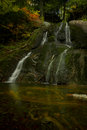 The other Moss Glen Falls in autumn Royalty Free Stock Photo