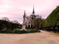 An other side of Notre dame de Paris, France. Royalty Free Stock Photo