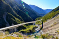 Otira Viaduct Lookout Royalty Free Stock Photo