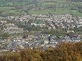 Otley from the chevin is name given to ridge on south side of wharfedale in leeds west yorkshire england overlooking market Stock Photography