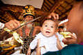 Oton ceremony on Bali island Stock Images