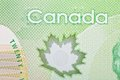 Ottawa canada avril extreme closeup of new polymer twenty dollar bills Royalty Free Stock Photography