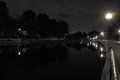 Ottawa Canal at Night Royalty Free Stock Photo