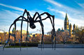 Ottawa city and the canadian parliament spider sculpture is famous maman by louise bourgeois Royalty Free Stock Images