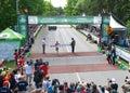 Ottawa Marathon Women's Winner Royalty Free Stock Photos