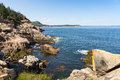 Otter rocks coastline this image of a rugged was taken at in acadia national park maine Royalty Free Stock Image
