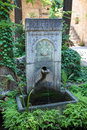 Ottoman fountain in rhodes greece with arabic calligraphic inscriptions of the period the archeological museum of Royalty Free Stock Photography