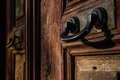 Ottoman style turkish house door traditional at istanbul Royalty Free Stock Image