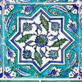Ottoman tile in turquoise Royalty Free Stock Photo
