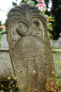 Ottoman tombstones in uskudar istanbul turkey Stock Images