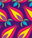 Ottoman Tulip Seamsless Pattern Stock Images