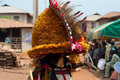 Otuo ukpesose festival itu masquerade in nigeria is made up of quarters namely amoya ohigba oluma amoho olila orake obo uree Royalty Free Stock Photos