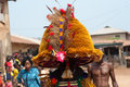 Otuo ukpesose festival itu masquerade in nigeria is made up of quarters namely amoya ohigba oluma amoho olila orake obo uree Stock Photography
