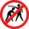 Ouch sign. Hitting and beating is forbidden Royalty Free Stock Photo
