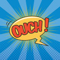 Ouch wording sound effect for comic speech bubble Royalty Free Stock Photo