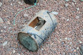 Oud uitstekend rusty fishing trap Royalty-vrije Stock Foto