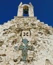 Oude Griekse orthodoxe kerk Stock Afbeeldingen