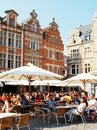 Oude Markt in Leuven Royalty Free Stock Photo