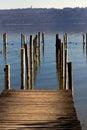 Oude pier Royalty-vrije Stock Foto