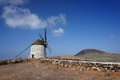 Oude windmolen in Villaverde, Fuerteventura Royalty-vrije Stock Foto