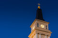 Oulu cathedral belfry at night in finland Royalty Free Stock Images
