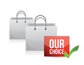 Our choice illustration design over a white background Royalty Free Stock Photos