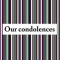 Our condolences Royalty Free Stock Photography