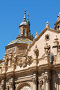 Our Lady of the Pillar in Zaragoza Royalty Free Stock Images