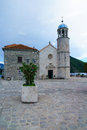 Our lady of the rocks church on an artificial island in bay kotor montenegro Royalty Free Stock Photography