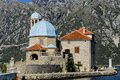 Our Lady of the Rocks church in Perast, Montenegro Royalty Free Stock Image