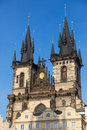 Our lady before tyn church in prague Royalty Free Stock Photo
