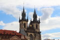 Our Lady of Tyn church in Prague Royalty Free Stock Photo